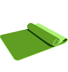 Green yoga mat vector