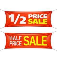 half price banners vector image