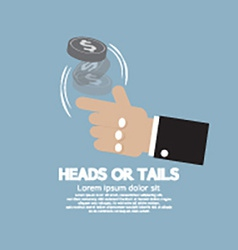 Heads or tails cast lots concept vector
