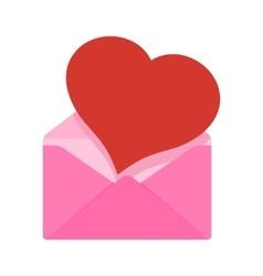 heart in envelope vector image vector image