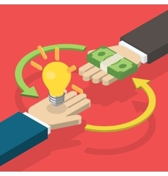 Idea trading for money concept vector image
