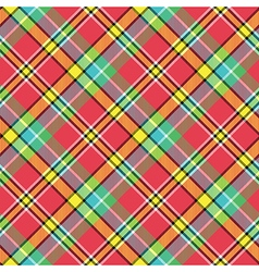 Madras bright color tartan seamless fabric texture vector