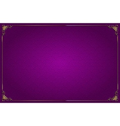 purple chinese background and gold decoration vector image