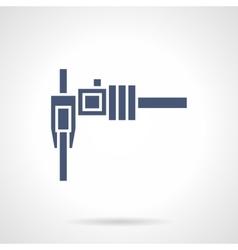 Sliding caliper glyph style icon vector