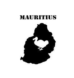 symbol of mauritius and map vector image
