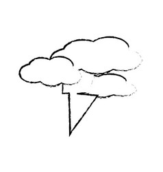 Thunder and clouds icon vector