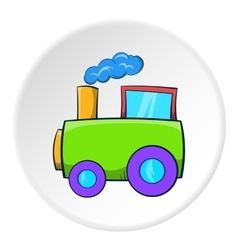 Train icon cartoon style vector image
