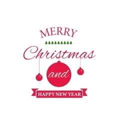 Typographical poster for Merry Christmas vector image