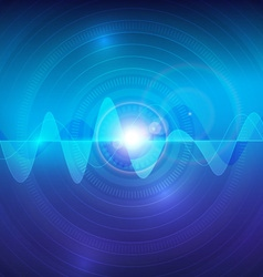 wave sound pulse abstract technology background vector image