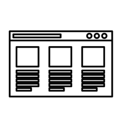 Web page template isolated icon vector