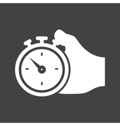 Holding stopwatch vector