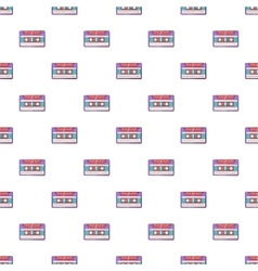 Audio cassette pattern cartoon style vector