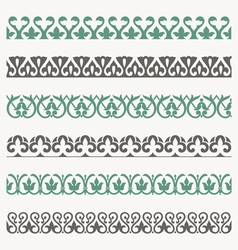 Decorative seamless ornamental borders set vector