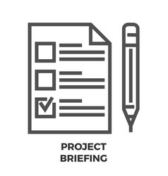 Project briefing line icon vector