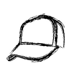 monochrome sketch of baseball cap vector image