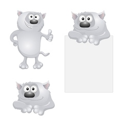 Funny gray cats vector