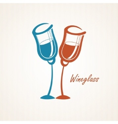 Two glasses vector