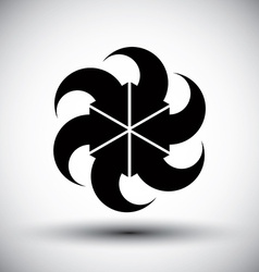 Six arrows loop conceptual icon special abstract vector image