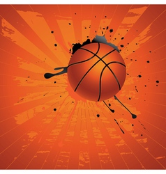 Grunge basketball2 vector