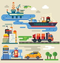 Industry and environment vector