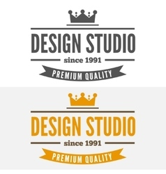 Retro vintage insignia or logotype design vector