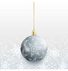 Christmas card with grey christmas ball vector