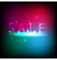 Banner with neon inscription sale vector