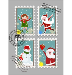 Xmas stamps vector