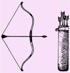 Bow arrow vector