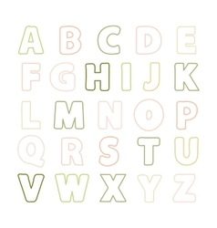 Alphabet thin line vector