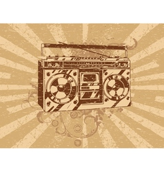 Retro ghetto blaster tape deck vector
