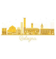 bologna italy city skyline golden silhouette vector image