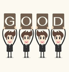 business man holding papergood vector image vector image