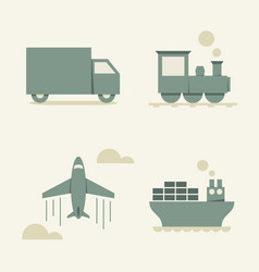 Cargo transportation vector