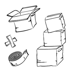 Cartons wrappers vector