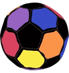 Color futboll ball vector image vector image