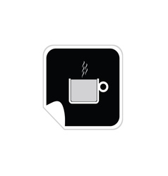 cup of coffee sticker vector image vector image