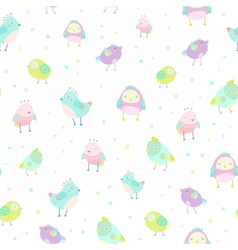 Cute birds pattern vector image vector image