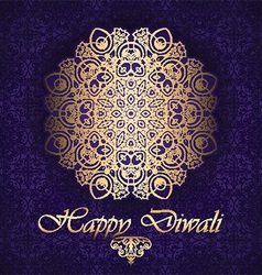decorative background for diwali 2109 vector image