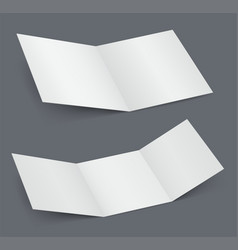 empty open white brochure doubled vector image