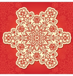 Floral traditional ornament vector image