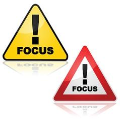Focus alert vector image vector image