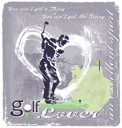 Golf Swing vector image vector image