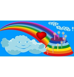 happy birthday horisontal vector image vector image