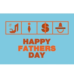 Happy fathers day cardTie Money Nipples vector image