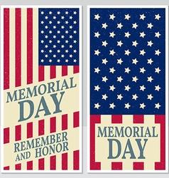 Happy Memorial Day greeting card flyer Happy vector image