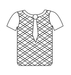 line nice man wear to use in special days vector image vector image