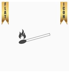 Match flat icon vector