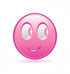 pink smiley vector image vector image
