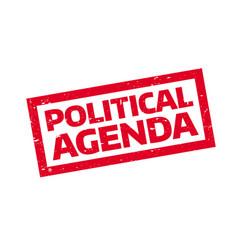 Political agenda rubber stamp vector